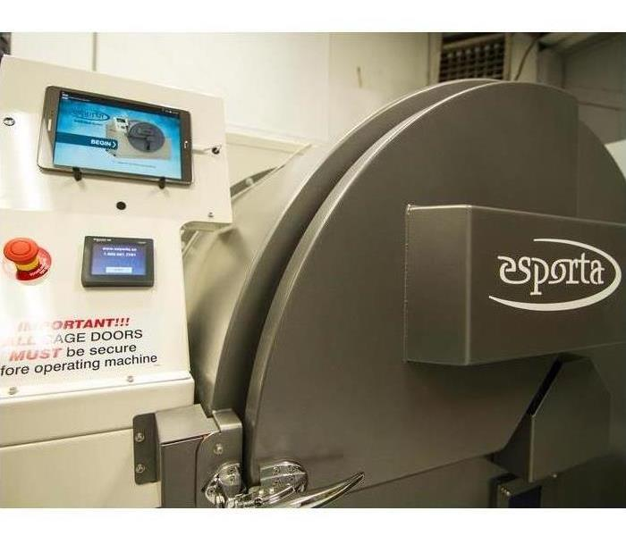 The Esporta washing machine in the SERVPRO of Farmington and Farmington Hills Warehouse
