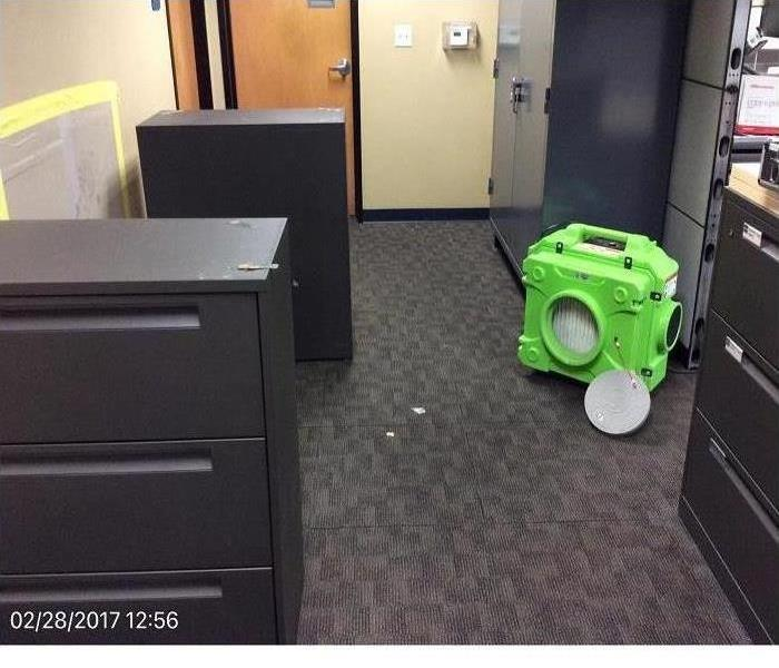 Air scrubber in an office